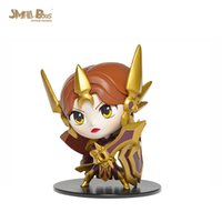 007 - League of Legends LOL Q version doll Leona Aurora model hand model cm Boxed PVC Action Figure Collection Model Toy Gift