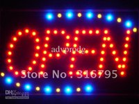 neon open sign - led001 r Red OPEN Classic LED Neon Business Light Sign