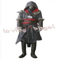 Wholesale Assassin s Creed Revelation Ezio Thick Denim Cosplay Halloween Men Costume customize Express shipping