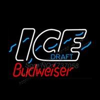 Wholesale 2015 Hot Neon Sign Budweiserr Ice Neon Beer Sign Neon Spurs Neon Sign Beer Bar Sign Real Glass Tube Handicraft