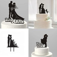 acrylic - Hot Fashion Kissing Bride Groom Funny Cake Topper Mr And Mrs Acrylic Cake Topper Decoration Wedding Party Favors Cheap LH08
