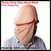 Wholesale 2015 Hot Selling New Design Funny Latex Mask Costume Latex Dick Head Mask Latex Dick Mask For Cosplay Penis mask