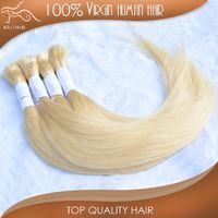 Wholesale Natural straight Peruvian remy human hair extension blond micro braiding hair bulk inch inch