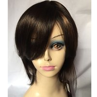 Wholesale Hot Sale Charming Mix Color Top Quality Straight Hairstyle Capless Synthetic Hair Wigs About Inches