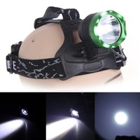 Wholesale Lumen CREE XML T6 LED Headlight Bicycle Bike Light Headlamp Head Torch Modes led Head lamp with battery charger