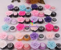 Wholesale Candy Color Rose Camellia Contact Lenses Box with r Sucker Simple Contact Lenses Case Container New
