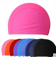 Wholesale Fashion Mens Candy colors Swimming caps unisex Swimming caps Nylon Cloth Adult Swimming Caps waterproof bathing caps