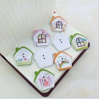 Wholesale 50 wood buttons New Colorful Scrapbooking Holes House Pattern wood Sewing Buttons AE03071 order lt no track