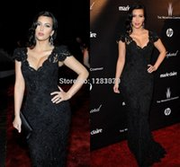 Cheap Zuhair Murad Lace Long Women Summer Evening Dresses In Floor Elegant Kim Kardashian Celebrity Dresses To Party Prom Dresses 2015