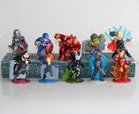 Wholesale 70 MM The Avengers pieces of Action Figure Hulkbuster Thor Black Widow scale painted figure Iron Man Hawkeye PVC ACGN figure