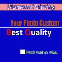 Wholesale DIY PHOTO CUSTOM Diamond Painting Picture of Rhinestones Diamond Embroidery Beadwork Cross Stitch D Home Decoration Full square order lt no
