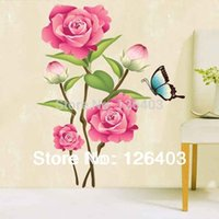 art paper supplier - DIY Removable Flower Home Art Decor Wall Stickers Camellia Pink Mural Wall Paper Stickers supplier