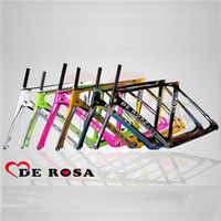 carbon fiber bicycle frame - DE ROSA Road Bicycle Framesets Toray T1000 Road Bike Frames with Headsets Carbon Fiber Material Glossy Matte Finish Sale