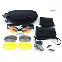 Wholesale 2015 Brand Cycling Goggle SunglassesExtra Pairs Lens Black White Frame Polarizing Sunglasses Colorful lenses Hiking Bike Eyewear Hot Sale