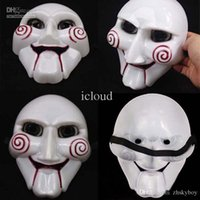 Wholesale 200pcs All Saints Day Fabulous The Saw Figure Mask Overhead Collectors Scary Gadgets with Fastener for Costume Party