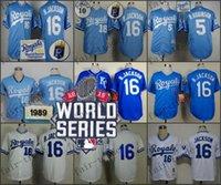 baseball world series - 2015 World Series Kansas City Royals Bo Jackson Baseball Jersey Cheap Rugby Jerseys Authentic Stitched Size