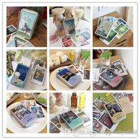 alice posts - 40 Cute Kawaii Paper Postcards wirh Tin Box Vintage Retro London Paris Alice Italy Greeting Post Cards A5