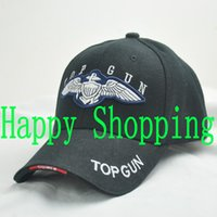 baseball guns - Movie Top Gun Military Hat Cosplay Adjustable Embroidery Summer Sun Baseball Bike Mountain Golf Cap