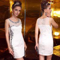 Cheap Olle Lan Kwai Fong 2222 real diamond pearl satin high-grade nail Slim dress dress wedding dress