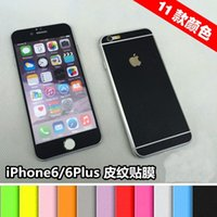 Wholesale Colorful Front Back Full Body Leather Sticker Screen Guard Protector for iPhone Plus quot quot Phone Protector Film