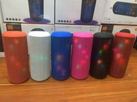 audio electronics portable - Electronic Audio Bluetooth Speaker LED lights Pulse Portable Wireless LED Colorful TF Card Outdoor colors DHL free