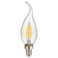 ac tips - E12 Candelabra Base W LM Dimmable LED Filament Clear Glass Chandelier Flame Tip Candle Light Bulb V AC