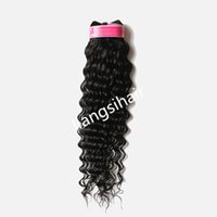 Wholesale 20 quot g brazilian indian peruvian malaysian virgin remy human hair extensions deep wave hair weave