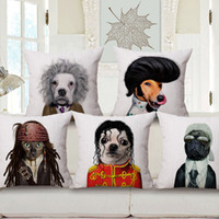 beatles pillow - Che Guevara Elvis Presley The Beatles Michael Jackson Dogs Cats Cushion Cover Super Cat Dog Pillow Case Linen Cotton Cushions Pillows Covers