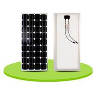 100 vatios de paneles solares de silicio monocristalino puede cargar la lámina puede montaje 12 voltios de carga de la batería bordo