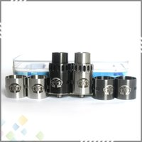 alliance black - Newest Alliance RDA Clone Atomizer mm Stainless Steel Peek Insulator DIY Silver Black Colors fit Ecigarette Vaporizer DHL Free