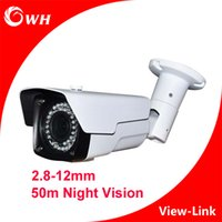 Wholesale CWH A6201H9V M IR Distance AHD Camera with bracket and white color and mm lens CCTV camera outdoor waterproof Security Camaras