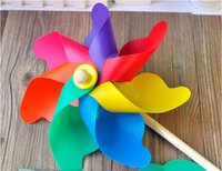 Wholesale New arrival cm plastic colorful windmill toy photography props children s classic
