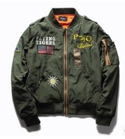 baseball uniforms designs - Winter flight jacket embroidered badges baseball uniform MA tooling cotton coat of men and women