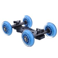 Wholesale 4 Wheel Desktop Vedio Rail Track Slider Table Dolly Car for DSLR Camera
