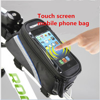Wholesale Bicycle Front Tube Bags Panniers Bicycle Mobile Phone Bag GPS Bag Of Touch Screen Mobile Phone Bag Cycling Equipment Accessories Sizes