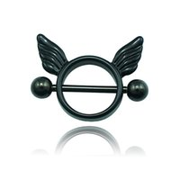 Wholesale Fashion Ear Plugs Tunnels Color Retro Circle Wing L Stainless Steel Hypoallergenic Body Piercing Jewelry