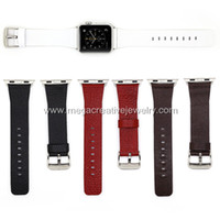 Wholesale For Apple Watch Strap Band Genuine Leather with Adapter included for and mm with retail box