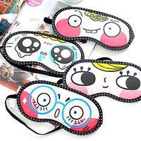 Wholesale Free ship pc Fabric cartoon eyeshade funny face eyewear without ice bag order lt no tracking