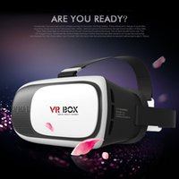 Wholesale Google Cardboard VR BOX II Virtual Reality D Glasses Game movie Helmet Goggle Oculus Rift for iPhone s plus Samsung s6 s5 Mobile Phone