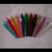 Wholesale 35pc mm mixed color crystal glass icicle multifaceted pendant crystal chandelier hanging prim ornament crystal prism