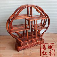 Wholesale Laos red wood Shelf wood Ming Court Chinese curio shelf shipping classical antiques