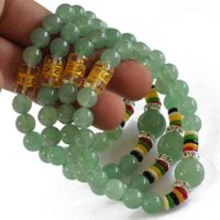 aventurine gem - Lucky Gem Bracelet mantra prayer beads natural aventurine jade bracelet fashion bracelets for women bracelete natural stone