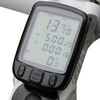 Wholesale The Plastic Functions Skid Waterproof Odometer Speedometer Bicycle Computer Glow Bike Code Table Black