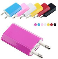 Wholesale 5V A mAh EU US Plug USB Power Travel Adapter AC Wall Charger For iPhone S S Samsung HTC Cell Phone
