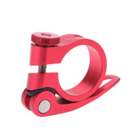 bicycle seat post clamp - 31 mm mm Bicycle Seat Post Quick Release Cycle Seat Post Clamp Tube Clip Aluminium Alloy Mountain Road MTB Bike Seatpost