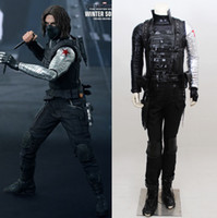 Wholesale Captain America Cosplay Costume Cloth Cosplay For The Winter Soldier Steve Rogers Full Suit Costume Custom Made Any Size Dropshipping