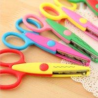 Wholesale 1Set Handmade DIY Photo Album Laciness Scissors Styles Decorative Wave Lace Edge Craft Scissors for Paper Cutter FZ2054
