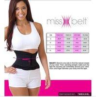 Wholesale DDA3690 Miss Belt Waist Training Belt Instant Hour Glass Shape Look Slimmer Fits Waist Girdle Cincher Tummy Body Shaper OPP bag