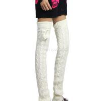 amp warmers - Fashion Leg Warmers for Women Autumn amp amp Winter Women Knit Wool gaiter socks Sports Warmer Leggings