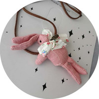Wholesale 2015 Korean children New lovely necklace new necklace cute pink bunnygirls wild child cloth sweater chain pieces